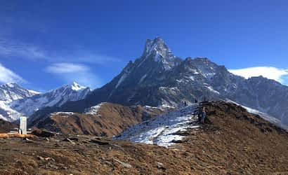 Trekking in Nepal in January